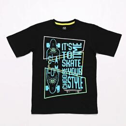 Camiseta Negra Up Stamps Junior