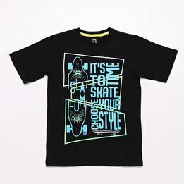 Camiseta Negra Up Stamps Junior