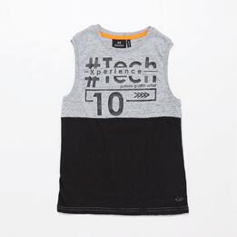 Camiseta Gris Junior Silver Art-Tech