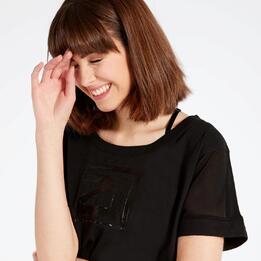 Camiseta Negra Silver Black and White