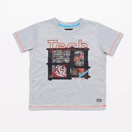 Camiseta Manga Corta Silver Crew Tech Niño