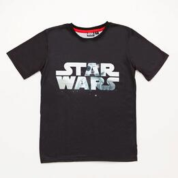 Camiseta Star Wars Negra Junior