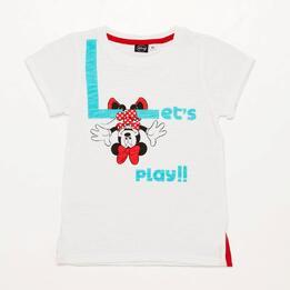 Camiseta Minnie Blanca Niña