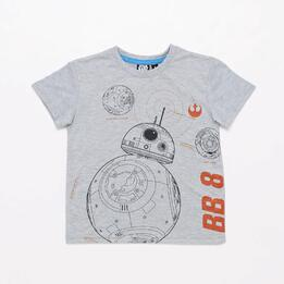 Camiseta Star Wars Gris Niño