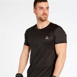 Camiseta Running Negra Ipso Basic