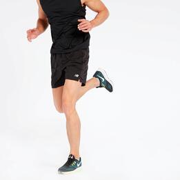 Pantalón Corto Running New Balance Negro