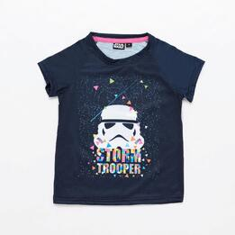 Camiseta Star Wars Azul Niña
