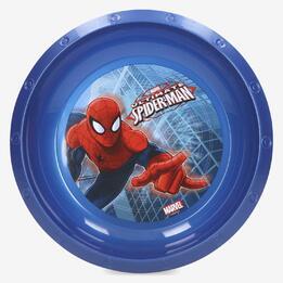 Plato Hondo Plástico Spiderman