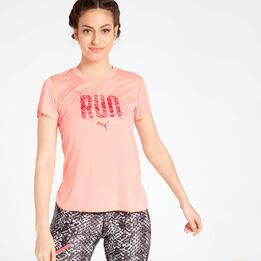 Camiseta Running Puma Rosa