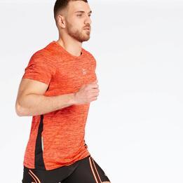 Camiseta Running Naranja Ipso Combi