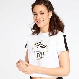 Camiseta Crop Fila Jodie Blanca
