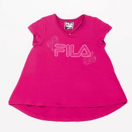 Camiseta Manga Corta Fila Raspberry Junior