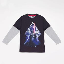 Camiseta Manga Larga Star Wars Junior