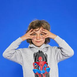 MCS MARVEL KID SUDADERA CAP.FELPA P.SPIDERMAN