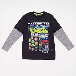 Camiseta Manga Larga Silver London Junior