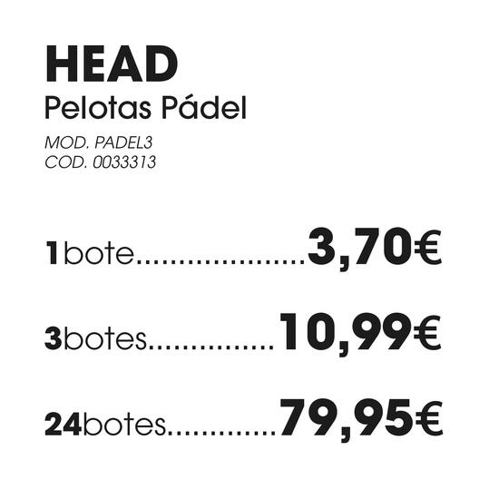Tubo Pelotas Pádel HEAD