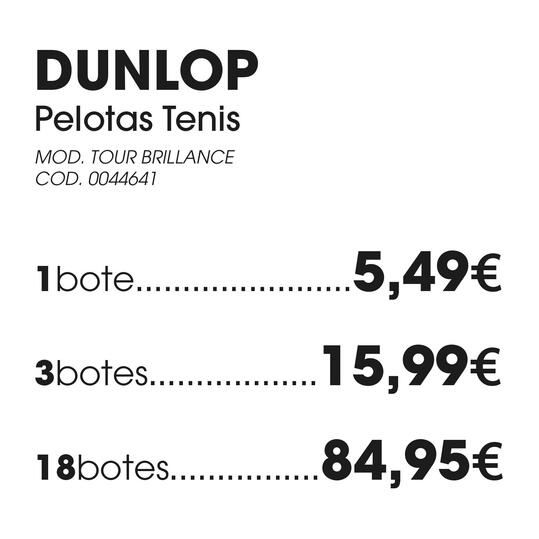 Pelotas Tenis DUNLOP TOUR BRILLANCE