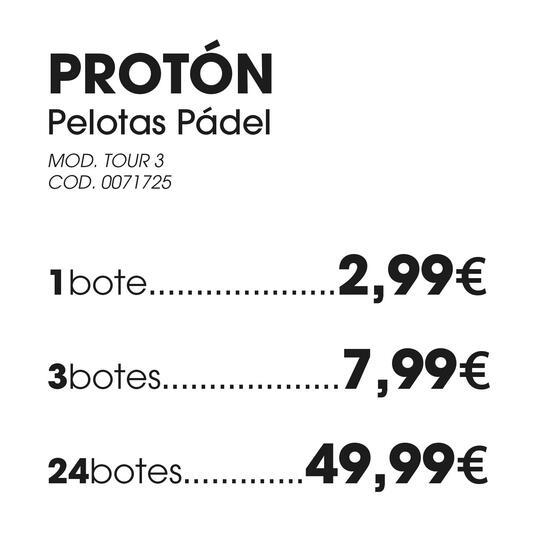 Pelotas PROTON Pádel TOUR