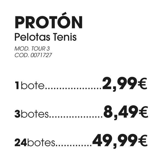 Pelotas PROTON Tenis TOUR