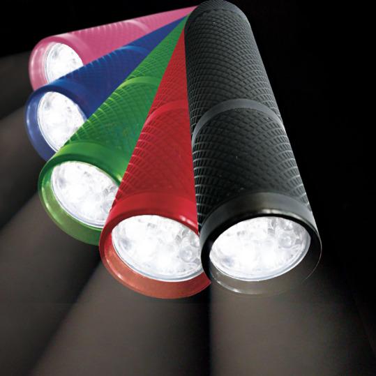 Linterna BORIKEN Fluorescente 9 Leds en Rojo