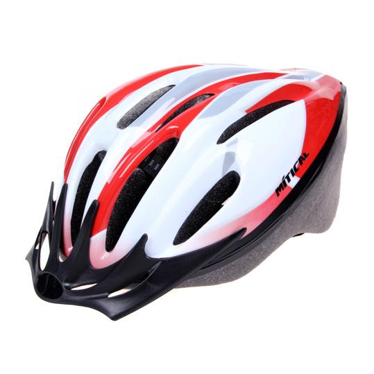 Casco Ciclismo MÍTICAL LINUX Blanco-Rojo Hombre