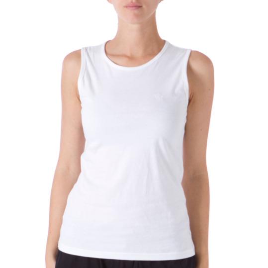 Camiseta UP Sin Manga Mujer en Blanco