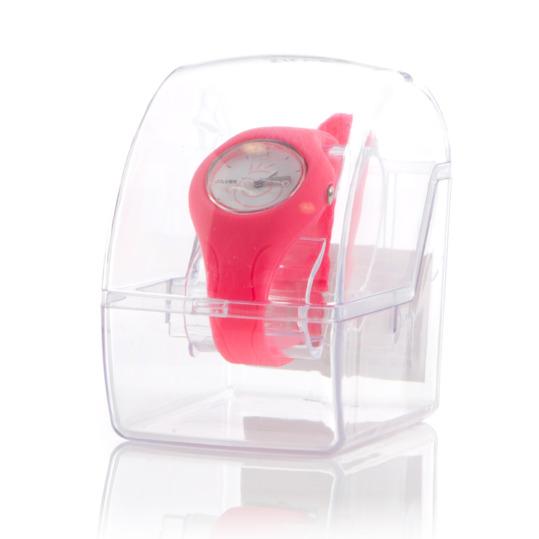 Reloj Goma SILVER Rosa Fucsia Niña