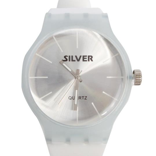 Reloj Sport Goma SILVER Blanco