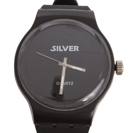 Reloj Sport Goma SILVER Negro
