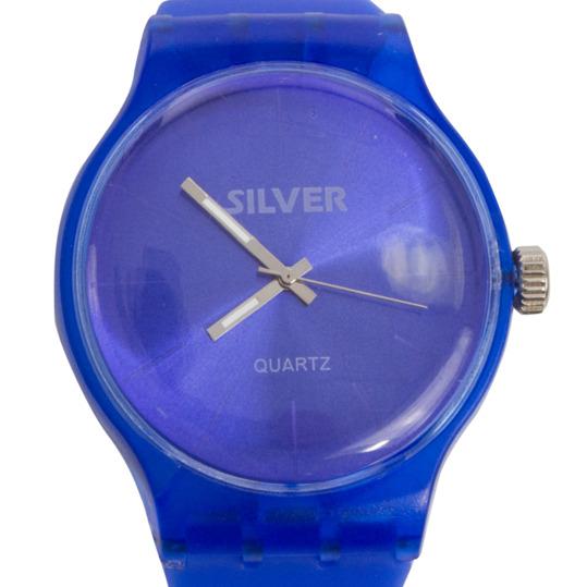 Reloj Sport Goma SILVER Azul Oscuro