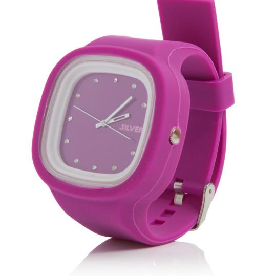 Reloj de Silicona Fucsia SILVER Mujer