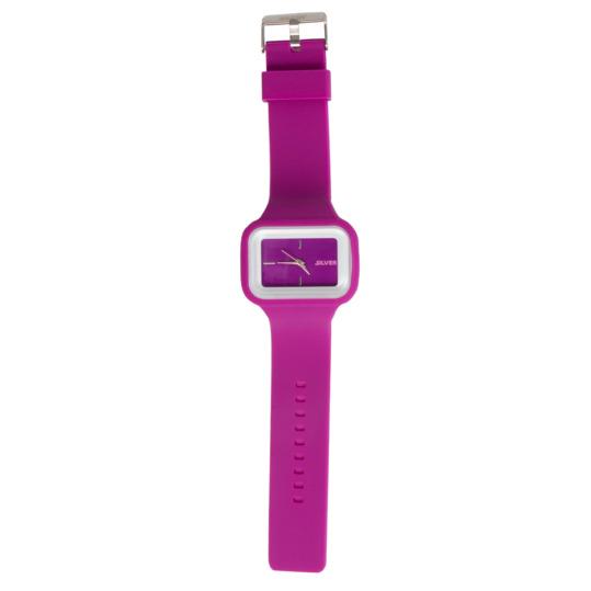 Reloj de Silicona SILVER en color Fucsia