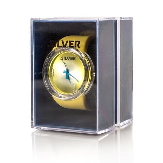 Reloj amarillo marca SILVER