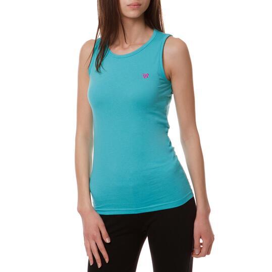 Camiseta Moda UP Turquesa Mujer