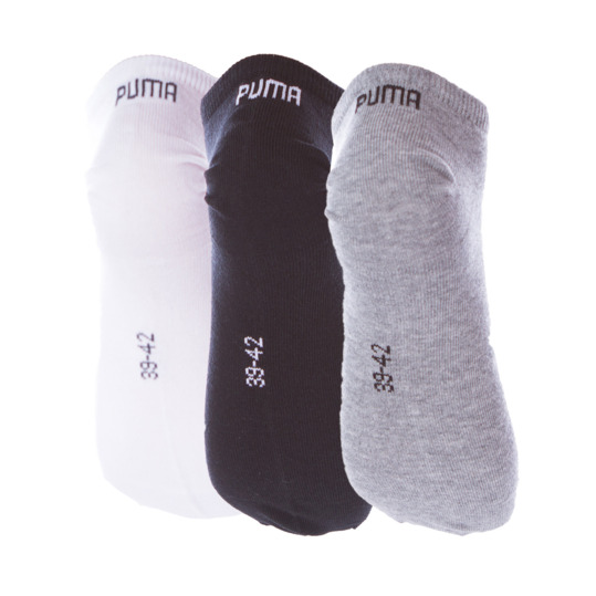 Calcetines Invisible PUMA Negro Gris Blanco