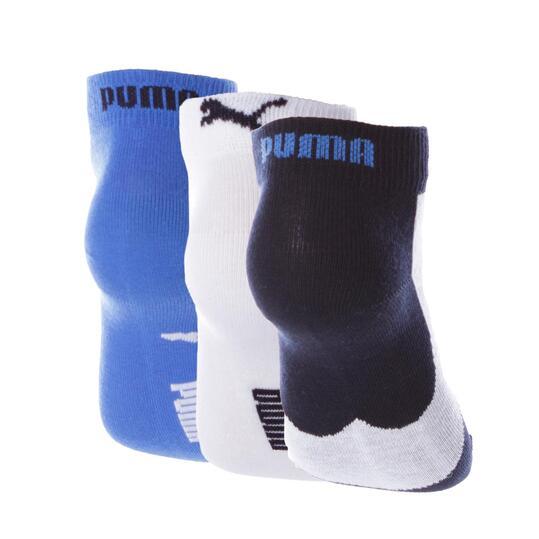 Calcetines Corto PUMA Marino Gris Azul Niño