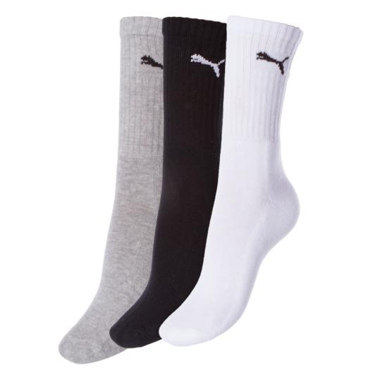 Calcetines PUMA Blanco Gris Negro Hombre