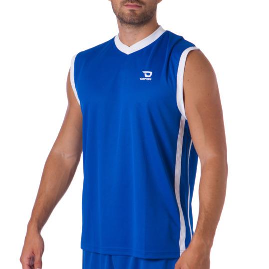 Camiseta sin mangas DAFOR Baloncesto hombre en azul-blanco