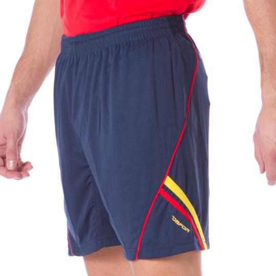 Pantalón Corto Fútbol DAFOR Marino-Rojo Hombre