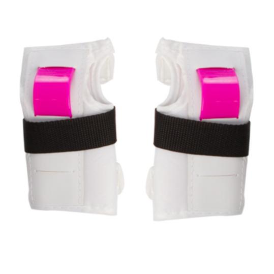 Protecciones Patinaje MÍTICAL Blanco-Rosa