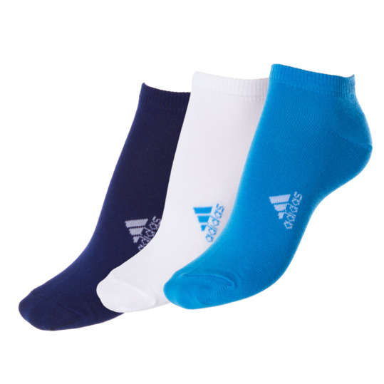 Calcetines Tobillero ADIDAS Lin Plain Blanco, Azul Marino Mujer