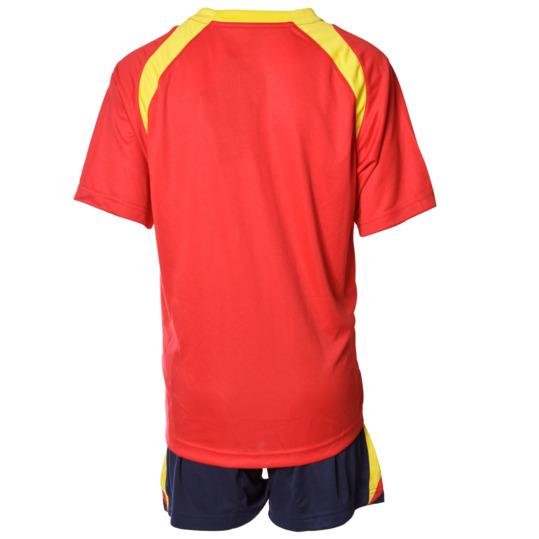 Equipación Fútbol DAFOR Niño Rojo Marino Amarillo (8-18)