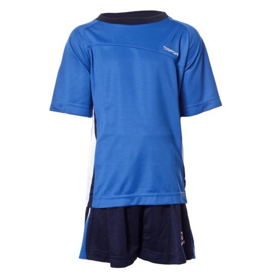Equipación Fútbol DAFOR Niño Azul Marino Blanco (8-18)