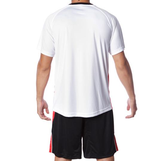 Equipación Fútbol DAFOR Hombre Blanco Negro Rojo