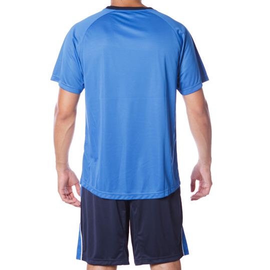 Equipación Fútbol DAFOR Hombre Azul Marino Blanco