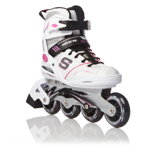 Patines ROLLER MÍTICAL Abec 5 Blanco Fucsia Mujer