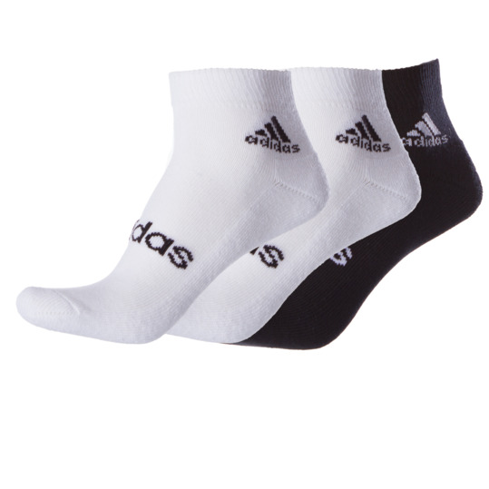 Pack 3 Calcetines ADIDAS Ankle Blanco Negro Hombre