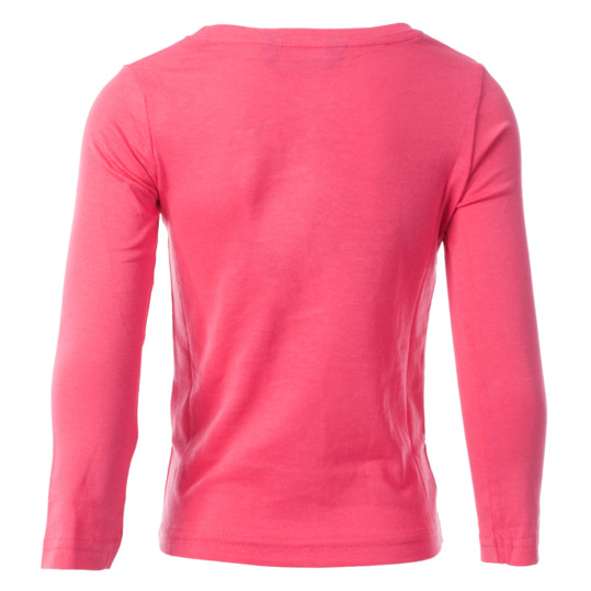 Camiseta de manga larga UP Basic rosa fucsia niña (2-8)