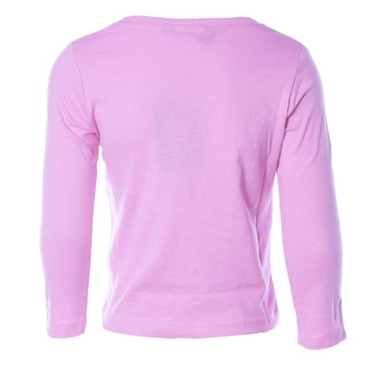Camiseta de manga larga UP Basic rosa palo niña (2-8)
