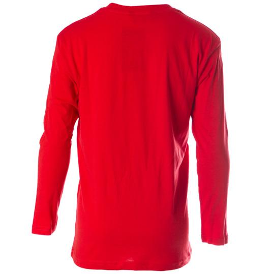 Camiseta de manga larga UP Basic rojo niño (2-8)